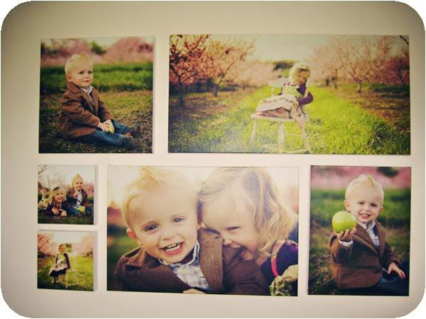 want featuring both kidsindividually then one with both!! idea for photo canvas wall