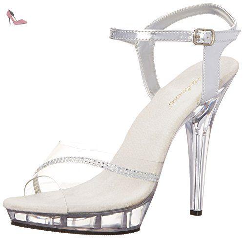 Pleaser USA Shoes - LOVELY-456 - 36 - Transparent/Argent 9jZcXjaz