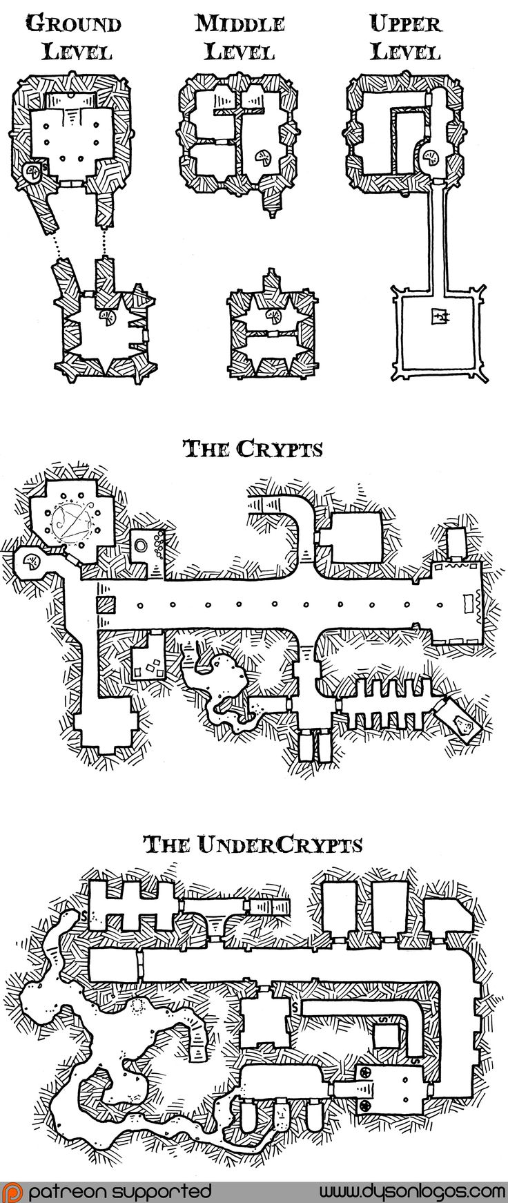 how to draw a dungeon map computer