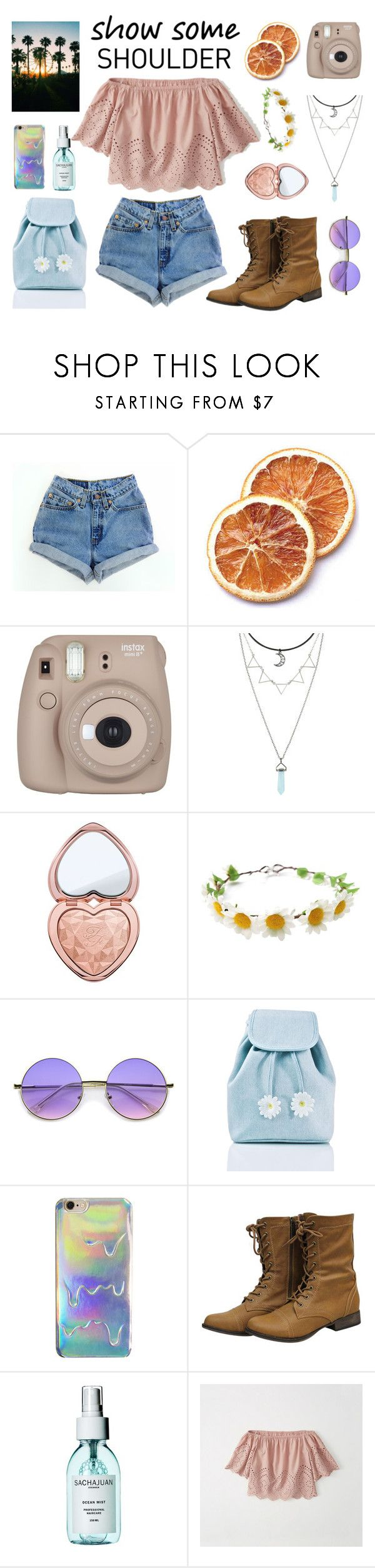 """Chella vibe"" by lanagur on Polyvore featuring мода, Levi's, Fujifilm, Too Faced Cosmetics, ZeroUV, Sugarbaby, Sachajuan и Abercrombie & Fitch"