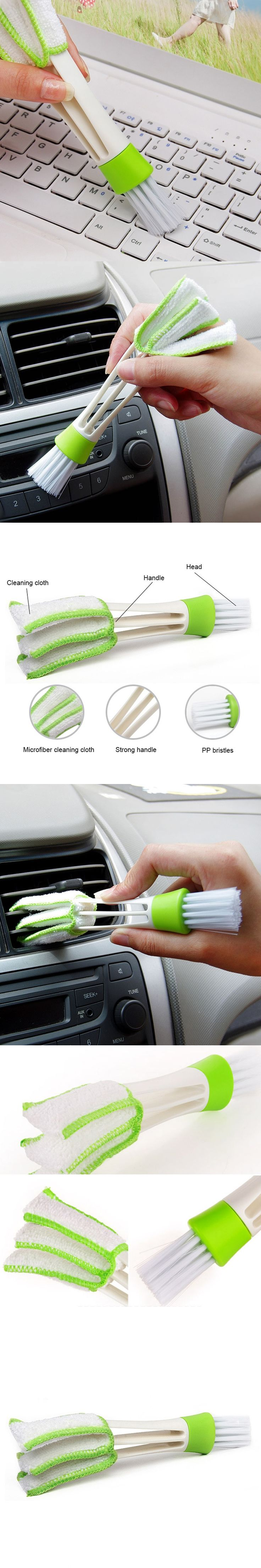 1Pc Car Washer Microfiber Car Cleaning Brush For Air-condition Cleaner Computer Clean Duster Tools