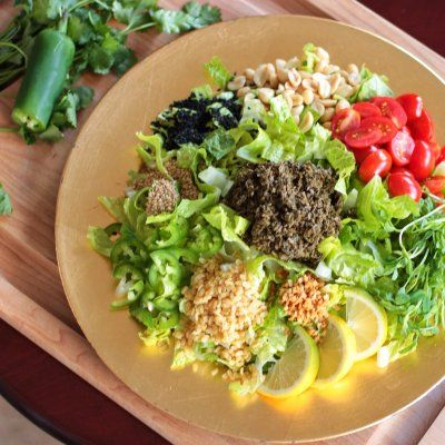 The most magical salad I ever ate was the Fermented Tea Leaf Salad at Burma Superstar in San Francisco. Tart and tangy green tea leaves are doused with fresh lemon juice, then tossed with savory bi...