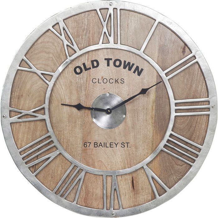 Wall Clock Old Town Wood - KARE Design