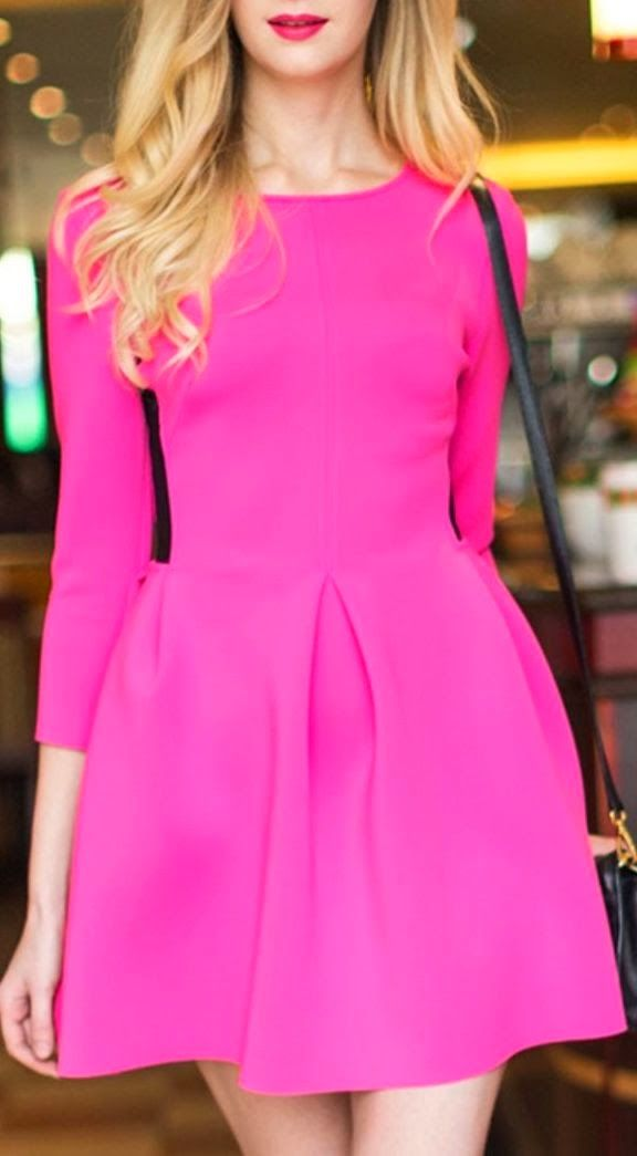 Adorable pink mini dress | STYLE ME 2 DAY