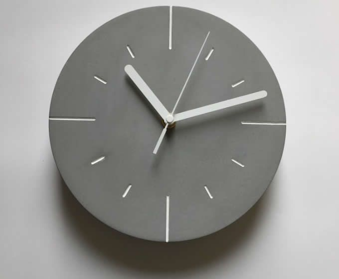 Modern Concrete Wall Clock Wall Clock Clock Concrete Wall