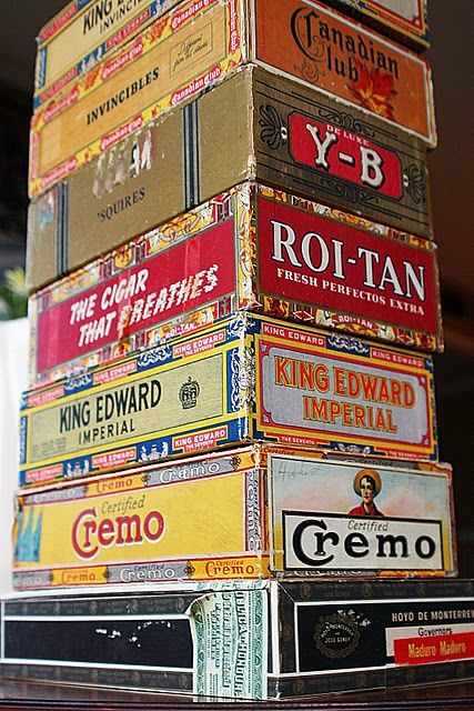 *Remember keeping school supplies in a cigar box? I kept my treasures in a secret cigar box all bound with rubber bands so no one could get in it.
