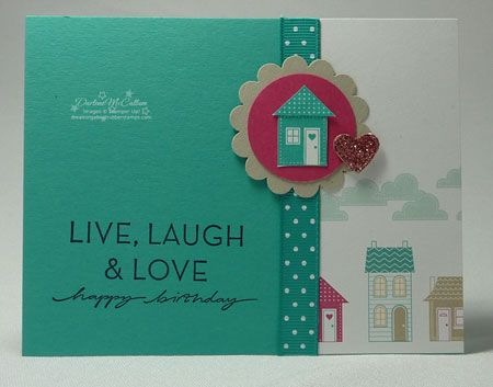 Another cute card with the Good Neighbors stamp set.