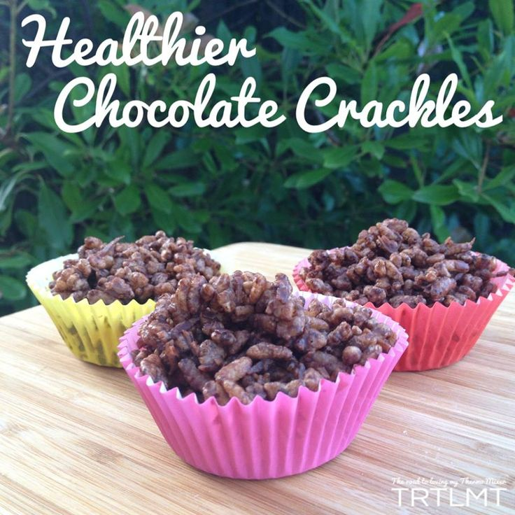 Healthier chocolate crackles