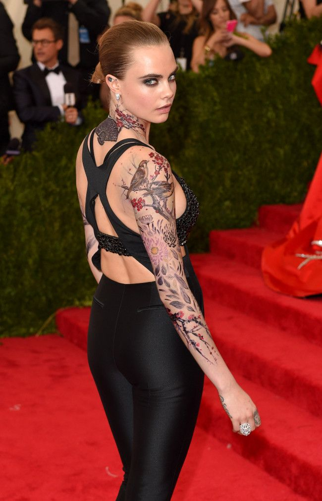 Cara Delevingne's fake Met Gala ink took 11 hours to apply