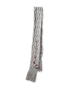 Desigual Women's Rainbow Flat Knit Scarf, Antracita