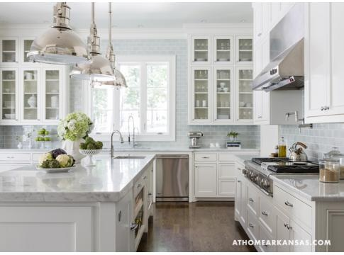 white & bright kitchen. A Contemporary Classic | At Home in Arkansas