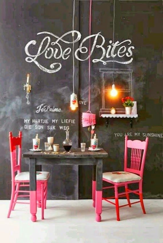 walls with chalkboard paint