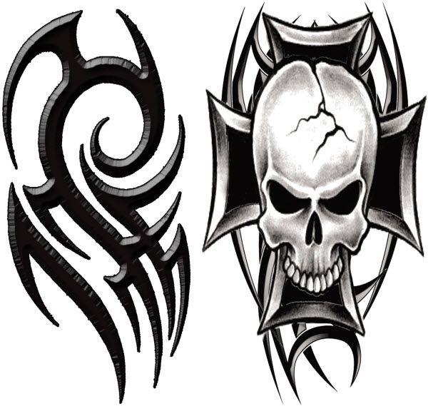 Macho Tribal Tattoo #temporarytattoo #Tribal #skull #t4aw ...