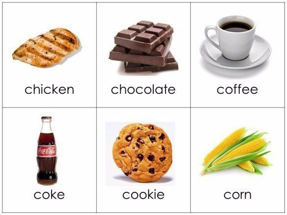 данном картинки еды для распечатки для английского называют черным необычный