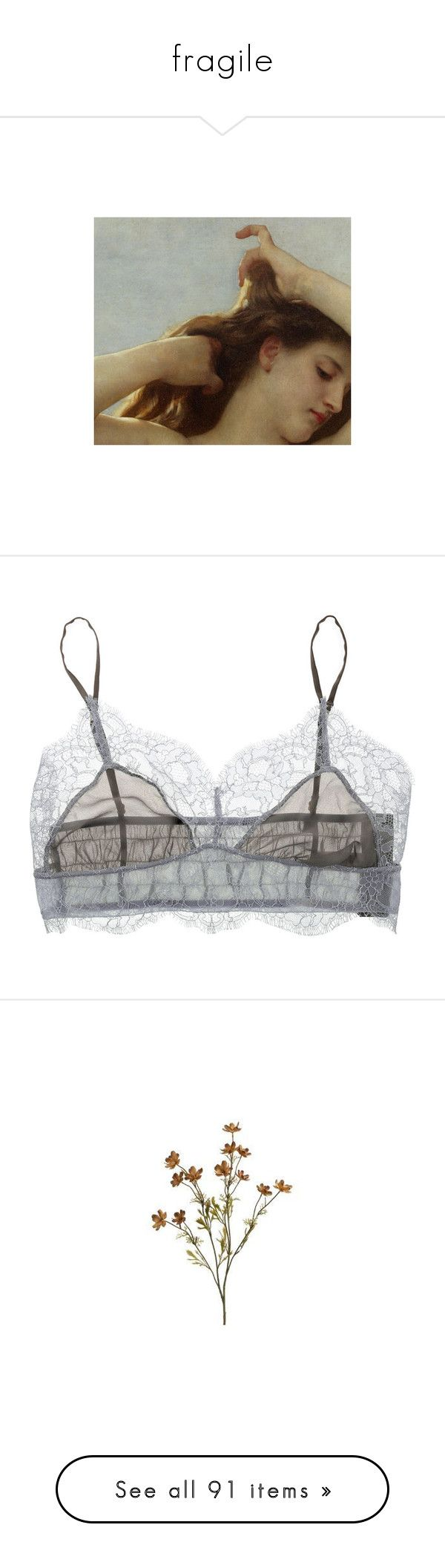 """""""fragile"""" by belupa ❤ liked on Polyvore featuring pictures, photos, art, backgrounds, images, intimates, bras, lingerie, underwear and women"""
