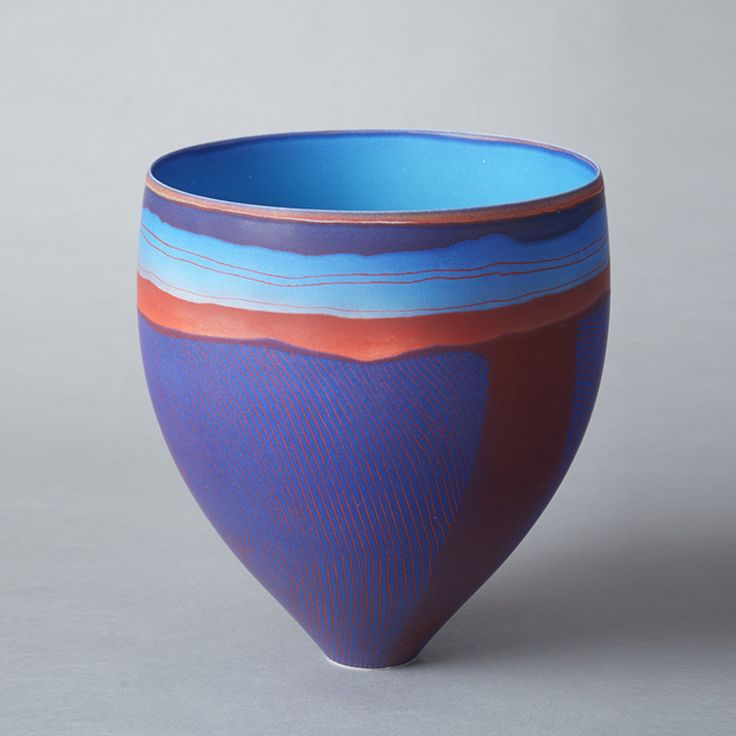 Pippin Drysdale, Lake Surprise, Tanami Mapping III, 2014, porcelain incised with coloured glazes, H 28 x D 26cm