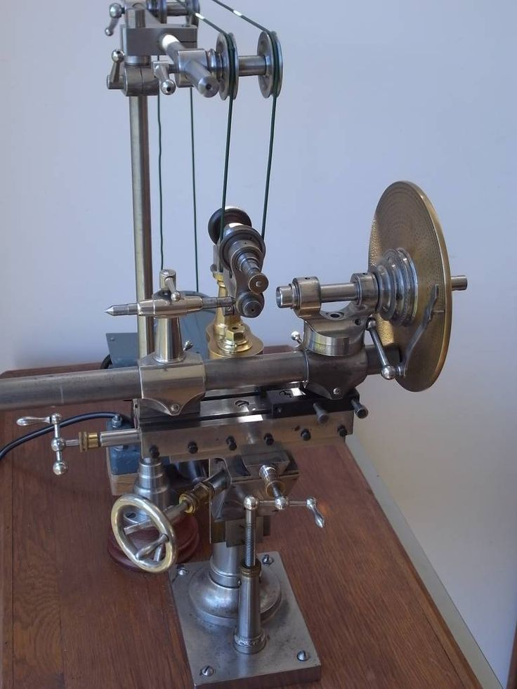 rare and antique watchmaker milling machine with wheel cutting attachment watchmakers lathe. Black Bedroom Furniture Sets. Home Design Ideas