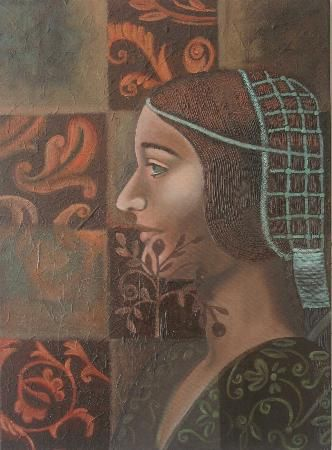 Done with oil on canvas. Love patterns and texture. Done by Vivia Oosthuizen