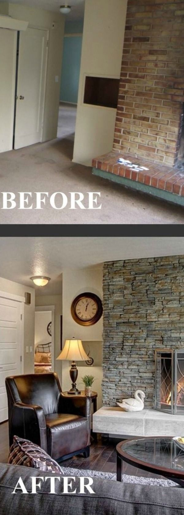Have you been considering remodeling your living room? Check out these before and after shots of living room remodeling | lovelyspaces.com