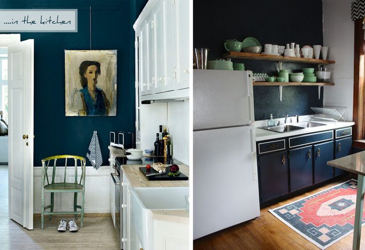dark navy blue kitchen walls Unidentified Lifestyle by Maria Matiopoulou: Styling