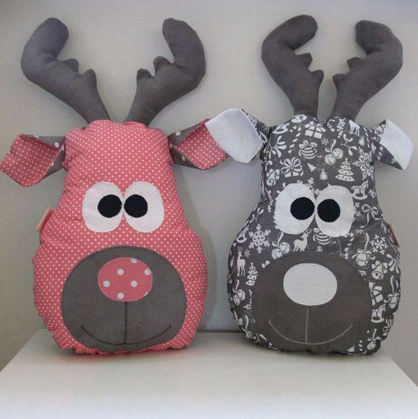 Poduszka dekoracyjna - przytulanka - renifer trusk - merlo-dekor - Poduszki dla dzieci
