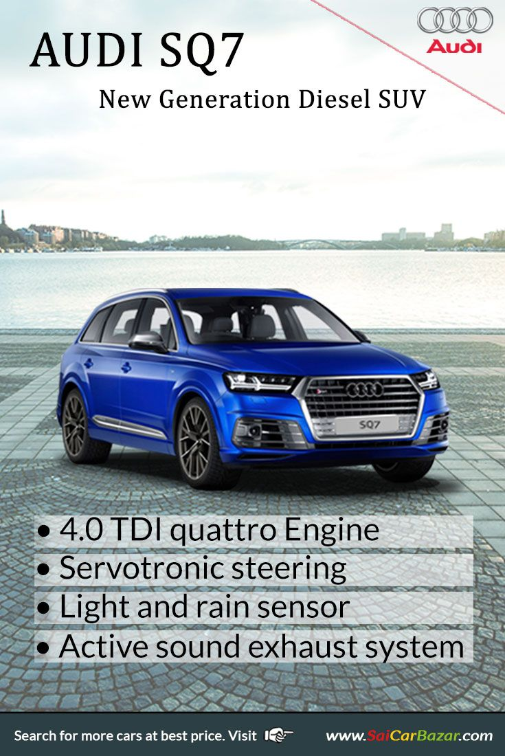 The new audi sq7 new generation diesel suv is going to be launch this month