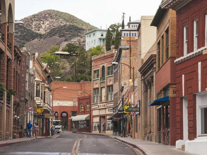 1. For a perfect example of an old mining town main street, visit Bisbee.