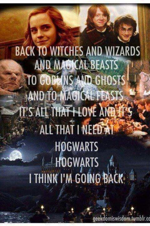 Hogwarts will always be there to welcome you home ❤*sobs*