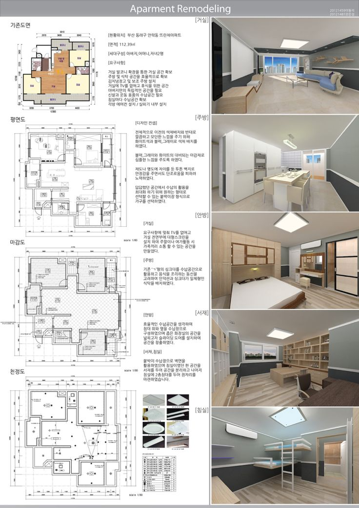 Apartment remodeling. layout  panel design