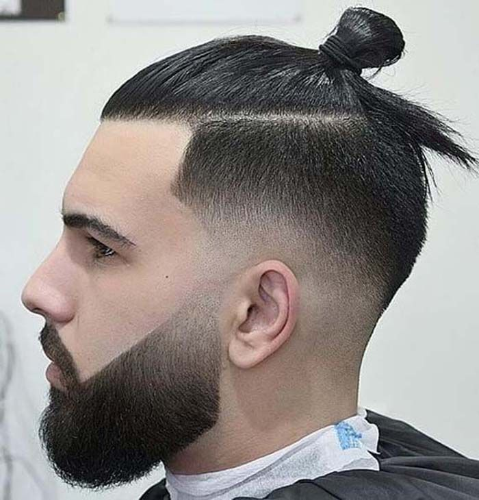 Pin By Angelina William On Men S Hairstyle Man Bun Hairstyles Man Bun Haircut Low Fade Haircut