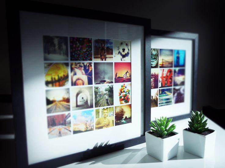 Es sencillo ingresás a nuestra web y podés escoger entre 1 a 16 imágenes de tu instagram, armás tu instaframe y  te lo enviamos a casa.