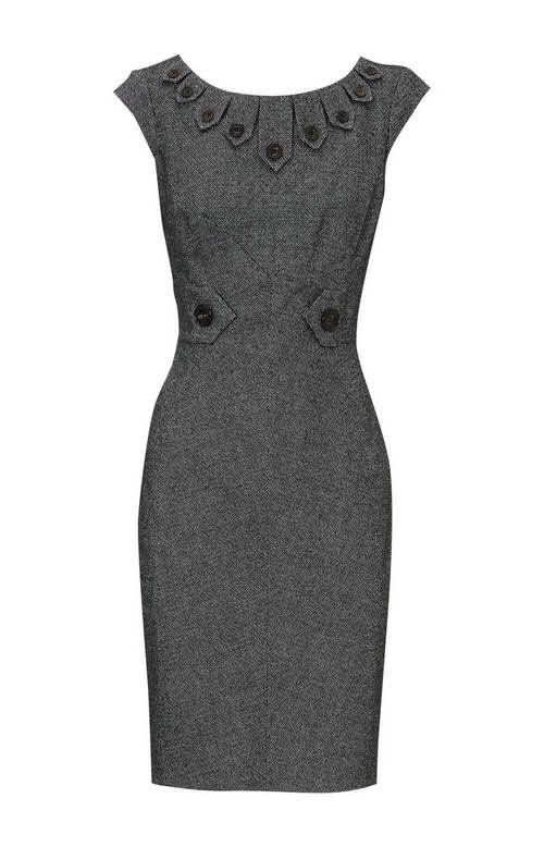 Cute grey dress with even cuter buttons!