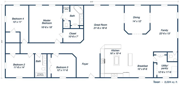 Metal ranch house floorplans free commercial floor plans for Commercial building blueprints free