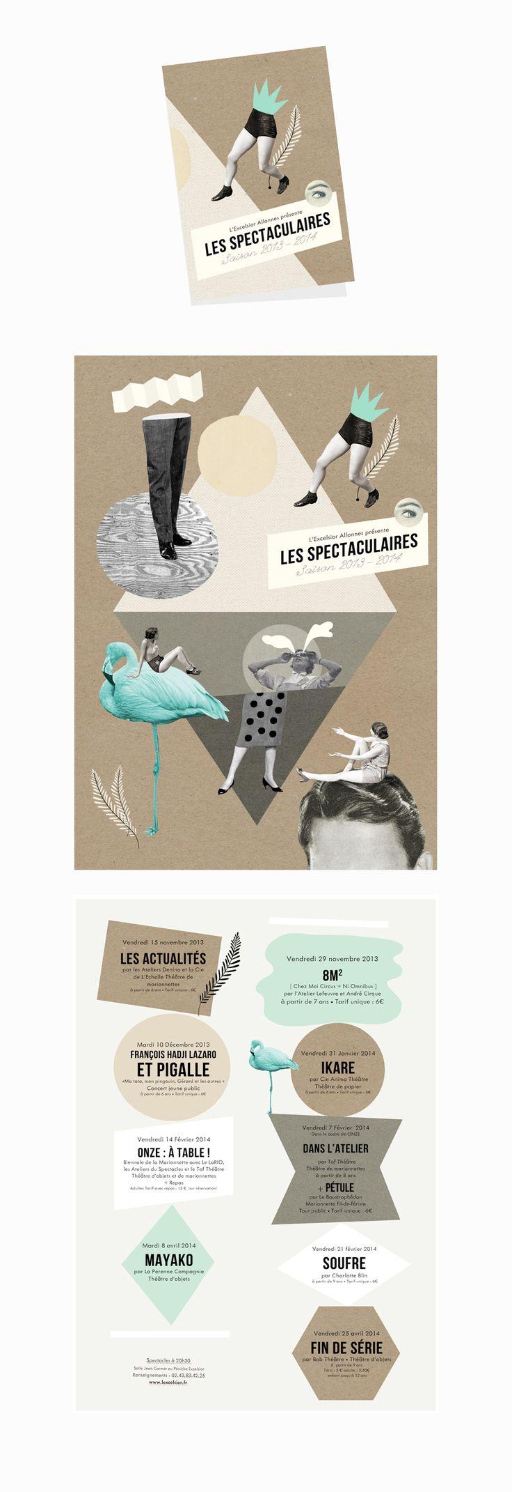 Programme format A3 plié en 4  - Présentation des spectacles d'arts vivants de la ville d'Allonnes.