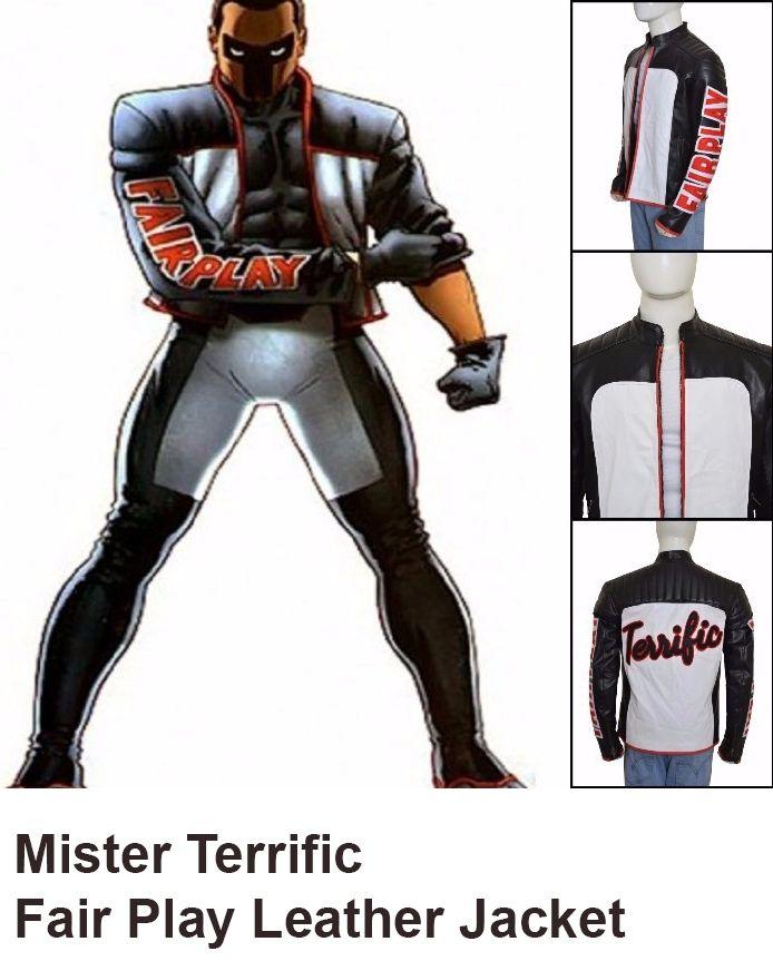 Mister Terrific Fair Play Leather Jacket
