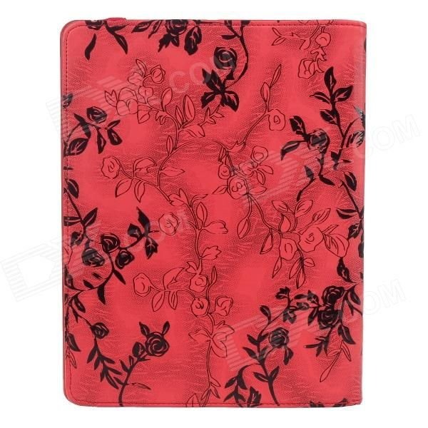 Brand: No; Quantity: 1 Piece; Color: Red; Material: PU Leather; Compatible Models: Ipad 2 / the New Ipad / Ipad with retina display; Auto Wake-up / Sleep: YES; Keywords: Ipad Case; Other Features: Made of high quality PU leather; Stylish rose pattern; Allows full access to all parts and buttons; Perfect accessory for your device; Packing List: 1 x Protective case; http://j.mp/1ljFN6v