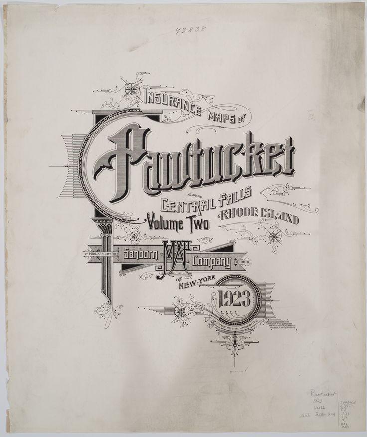 Sanborn Insurance Maps Of Pawtucket Ri 1923 Typography