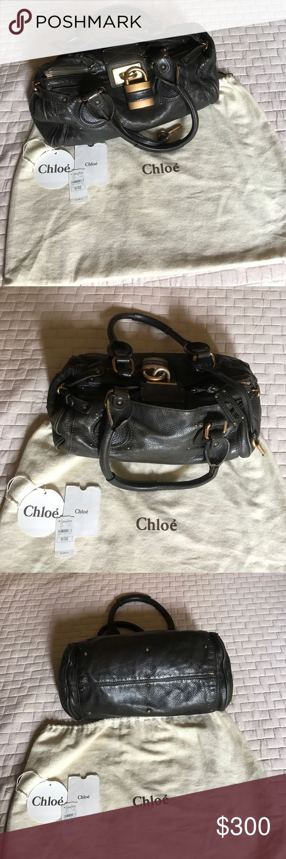 Authentic Chloe Paddington Bag Kaki color Authentic Chloe Paddington Bag - Kaki color- Inside has some stains . Comes with dust bag and has tags not attached! Chloe Bags Shoulder Bags