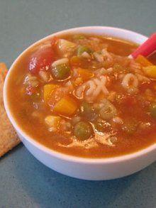 Alphabet Soup- make to freeze for Mollie.