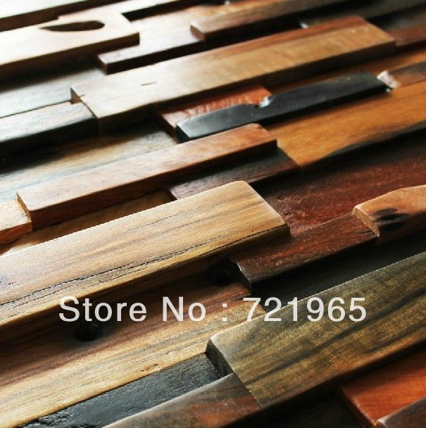 Natural Wood Mosaic Tile Rustic Wood Wall Tiles Nwmt006 Kitchen Backsplash Wood Panel Pattern Tile Mosaics