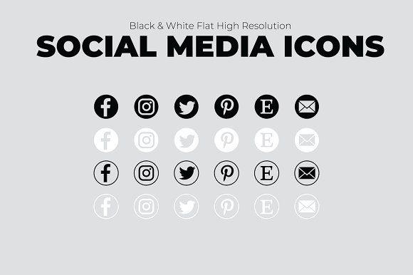 Sale 6 Creative Social Media Icons Social Media Icons Social Media Icons Free Media Icon