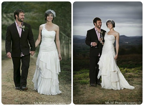 Layers of pleated chiffon and raw silk www.weddingcouture.co.za