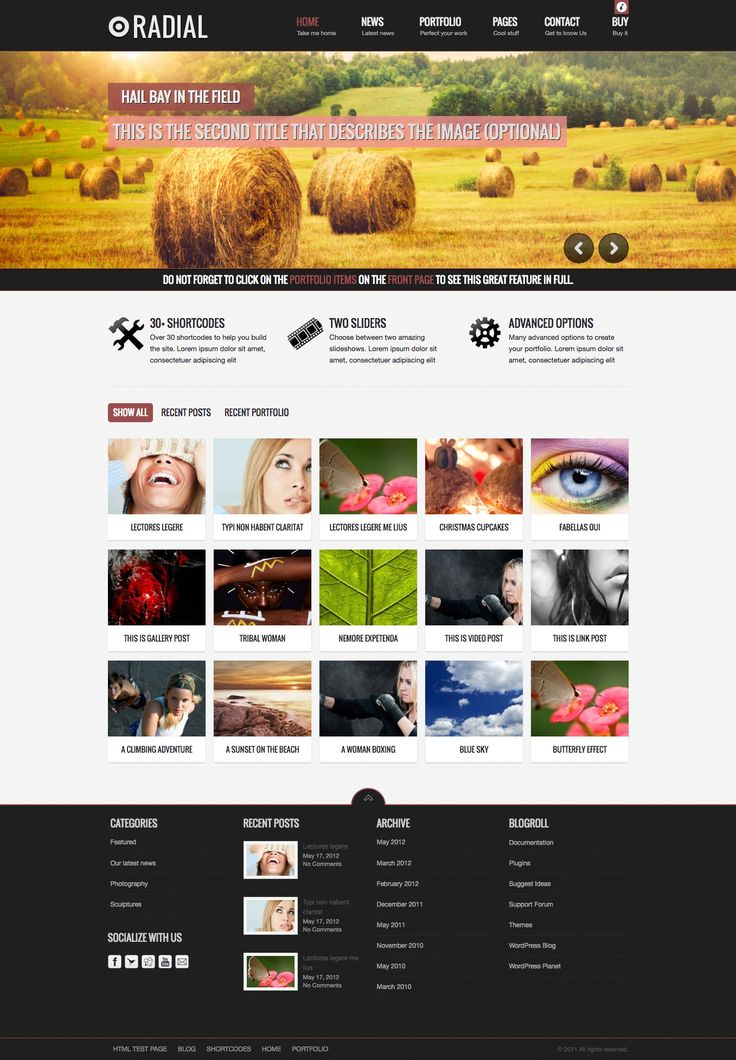 Radial is a Blog Wordpress Theme, suited for users who want to run a professional or personal blog and wants to showcase your products, services or news in a creative manner.