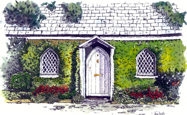 Raheny Cottages - Watercolour