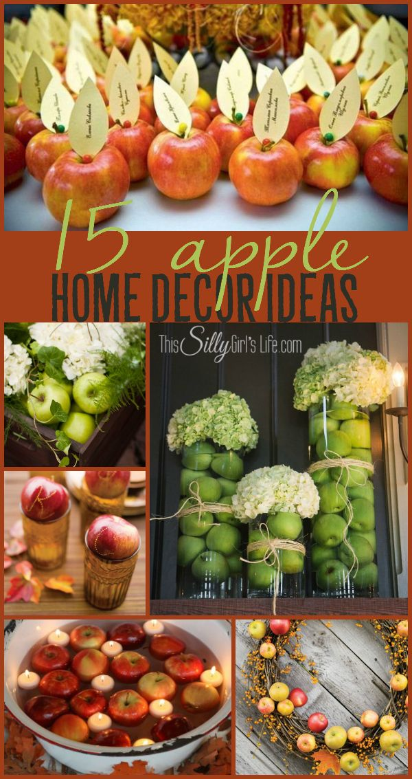 15 Apple Home Decor Ideas, home decor inspiration for the Holidays using apples! - ThisSillyGirlsLife.com