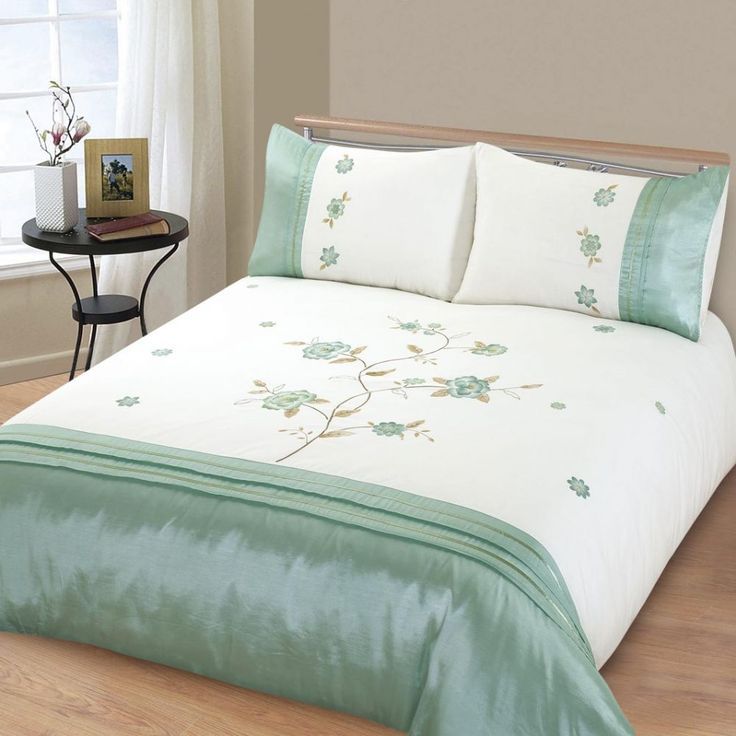 This duvet cover set has been designed to create that Contemporary look Carefully created in a fine soft cotton polyester fabric Rich 2 tone