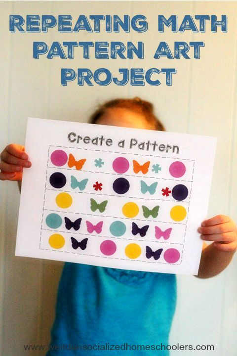 Creating patterns helps strengthen critical thinking skills and improves math comprehension. Practice patterns with a Repeating Math Pattern Art Project.