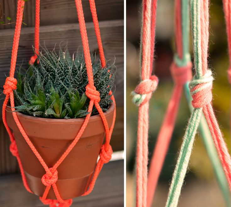 Diy macram pot mamieboude n21 diy pinterest macram pots et diy - Faire macrame suspension ...