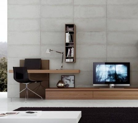 Modular escritorio lcd led moderno progetto mobili nuevo tvs tv walls and tv units - Melamina mobili ...
