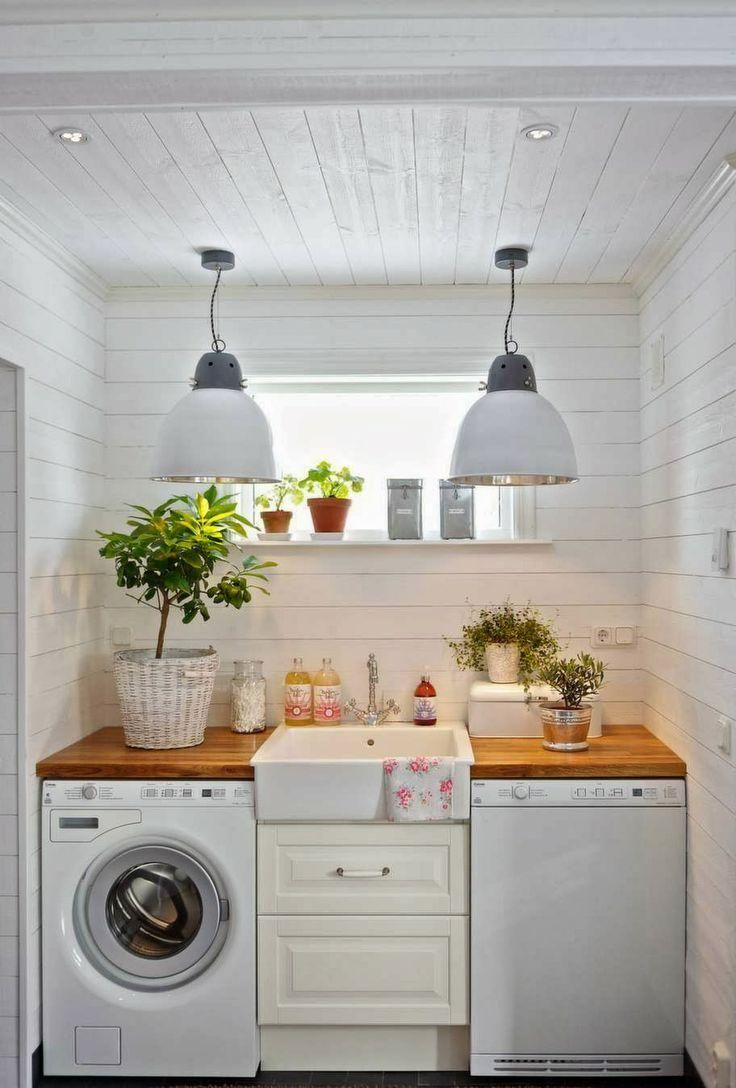 Utilitarian spaces such as laundry rooms and mudrooms seldom receive the attention they deserve — which is odd when you consider how often they're used. A properly designed laundry room can serve multiple purposes with the addition of custom built-in cabinets, utility sink, washer and dryer.